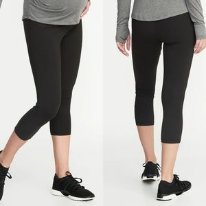 Old Navy Maternity Black Cropped Leggings